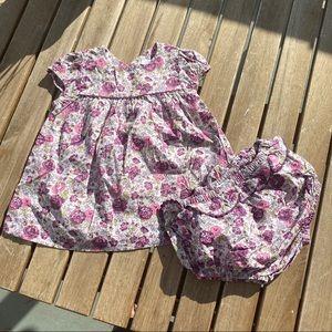 Dress + pants 3 / 6 months liberty Jacadi